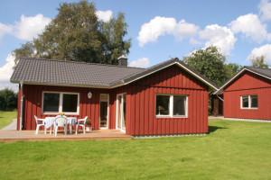 Die Ferienhäuser auf dem Biohof Iversen in Munkbrarup